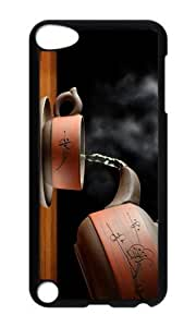 Ipod 5 Case,MOKSHOP Awesome hot cup tea Hard Case Protective Shell Cell Phone Cover For Ipod 5 - PC Black
