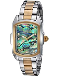Invicta Womens Lupah Quartz Stainless Steel Casual Watch, Color:Gold-Toned (Model: 24832)