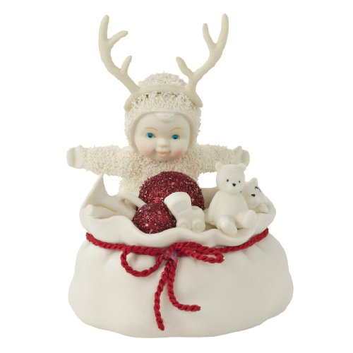 Department 56 Snowbabies Classics Santa s Little Helper Figurine, 4.75 inch