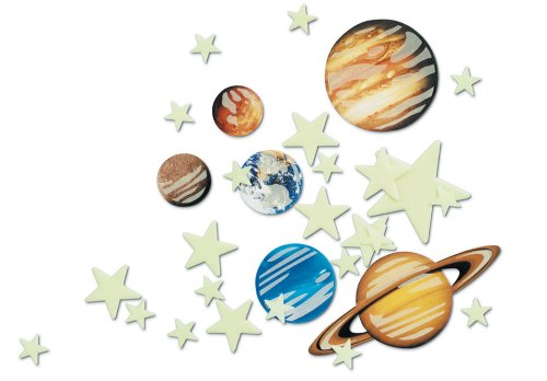 Glow In The Dark Solar System Stickers - 1