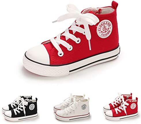 BENHERO Kids Boys Girls Canvas High Top Gym Shoes Trainers Sneakers Toddler//Little Kid//Big Kid