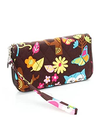 Quilted Owl Wristlet Wallet