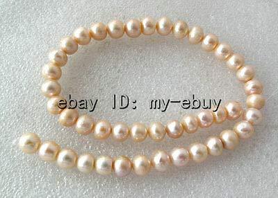 (FidgetFidget Pink Rondelle Freshwater Pearl Necklace Loose Beads Strands 15