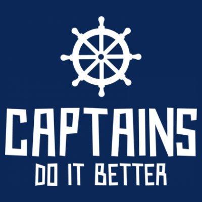 Sudadera con capucha de mujer Captains Do It Better by Shirtcity Azul marino