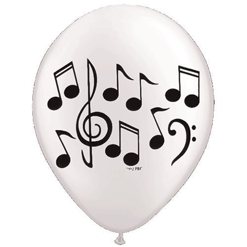 (GLOW Party Fun Decor Music Note Latex Balloons - 10 Balloons - 11