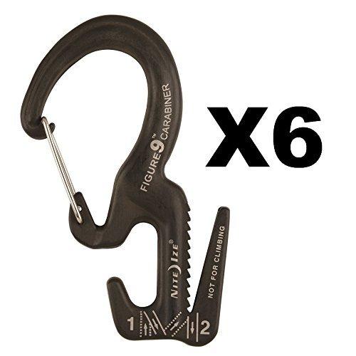 - Nite Ize Figure 9 Carabiner Small Rope Tightener Aluminum Tie Down Tool (6-Pack)