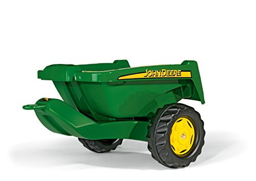 rolly toys John Deere Tipper Trailer with Rear Tipping for Pedal Tractor, Youth Ages 3+ (Pedal Wagon)