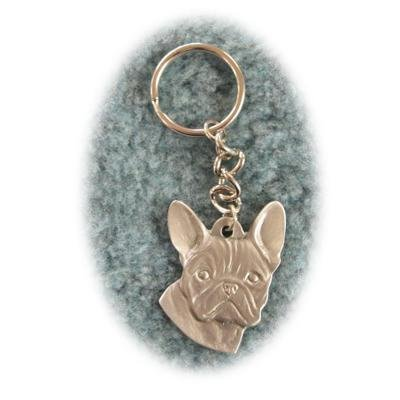 Pewter Key Chain I Love My French Bulldog ()