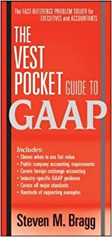 Book The Vest Pocket Guide to GAAP by Bragg, Steven M. (2010)