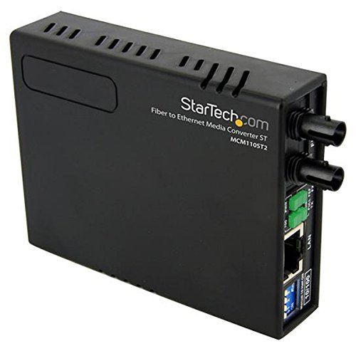 StarTech.com 10/100 Multi Mode Fiber Copper Fast Ethernet Media Converter ST 2 km - UTP to 100Base-Fx - Fiber Optic Media Converter MM (MCM110ST2)
