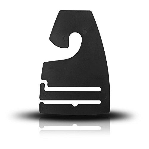 Discount Sizing Black Plastic NeckTie Hanger Hooks - Various Quantities Available (100) - Ties Discount Neckties