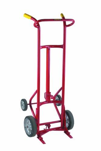 Wesco 240001 Deluxe Series Steel Drum Truck, Moldon Rubber Wheels, 1000-lb. Load Capacity, 24