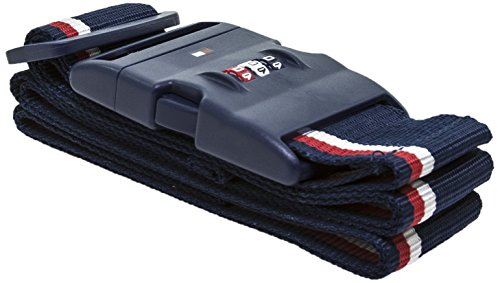 (Tommy Hilfiger Luggage Strap with Combination Lock, Navy)