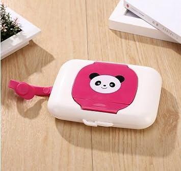 Rosa roja Whobabe Cartoon port/átil beb/é caja para toallitas h/úmedas de viaje Estuche para toallitas para beb/é