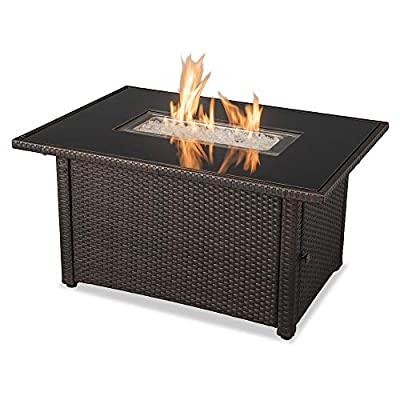 "Endless Summer GAD17400SP 44""X32"" Rectangular Outdoor Gas, Brown/Black Fire Table, Multi Color"