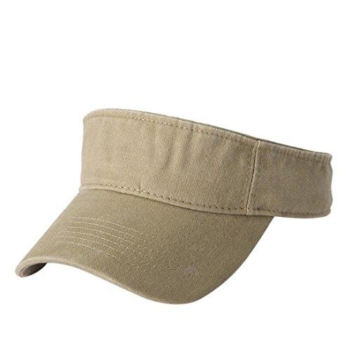BCDshop Summer Sun Visor Cap For Women Men Cotton Fashion Sport Outdoor Caps (Khaki)
