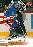 Autograph Warehouse 68194 Mike York Autographed Hockey Card New York Rangers 2000 Upper Deck No. 116