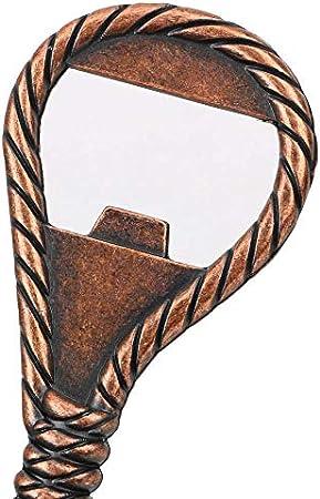 yywl Sacacorchos de 2 piezas, forma de cuerda, aleación de zinc, herramienta para bar, restaurante, botella de cristal, abridor de botellas de soda, abridor de botellas de estilo clásico