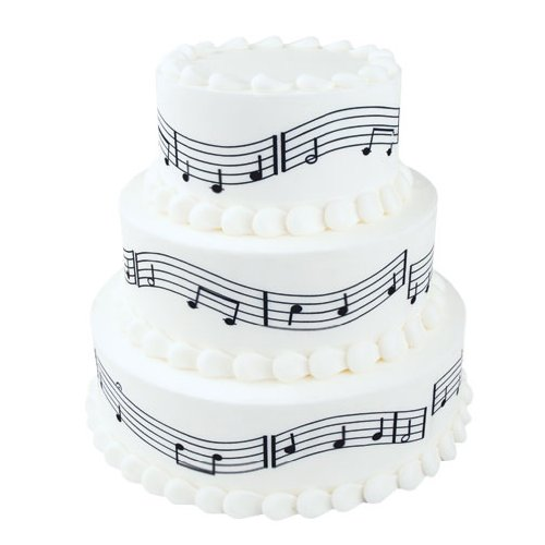 Music Notes Edible Image Decorating Strips - One Page - Three (Music Cake)