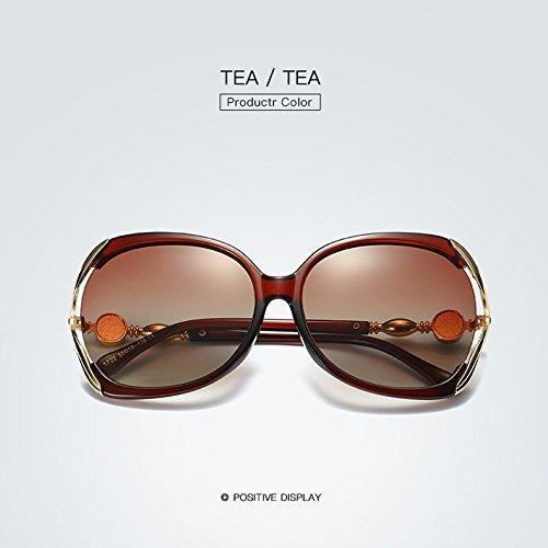 de gran tamaño mujeres 2 de sol para marco adultos Gafas UV400 polarizada de de cristal Ruanyi de para sol alta calidad gafas 6ZOxqqg1