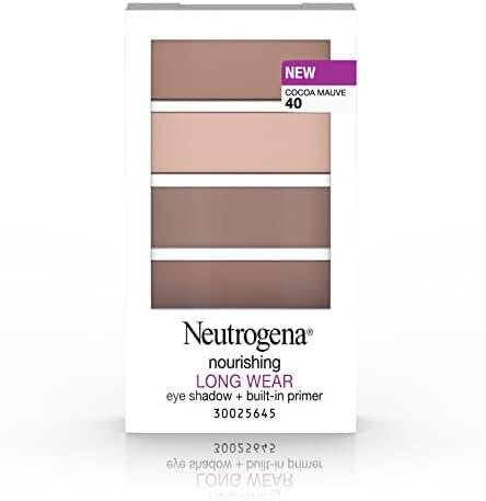 Neutrogena Nourishing Long Wear Eye Shadow + Built-In Primer, 40 Cocoa Mauve, .24 Oz.