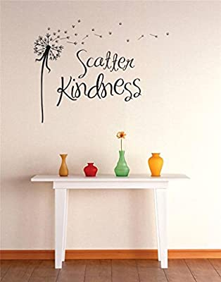 """Design with Vinyl RE 1 C 2300 Scatter Kindness Image Quote Vinyl Wall Decal Sticker, 12 x 18"""", Black"""