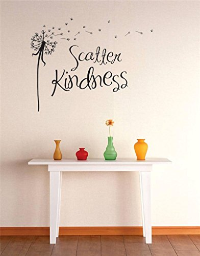 Design with Vinyl RE 1 C 2300 Scatter Kindness Image Quote Vinyl Wall Decal Sticker, 12 x 18