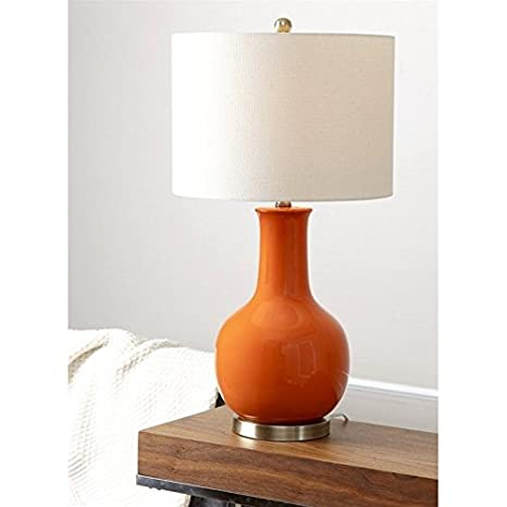 Abbyson living gourd ceramic table lamp in orange amazon abbyson living gourd ceramic table lamp in orange mozeypictures Image collections