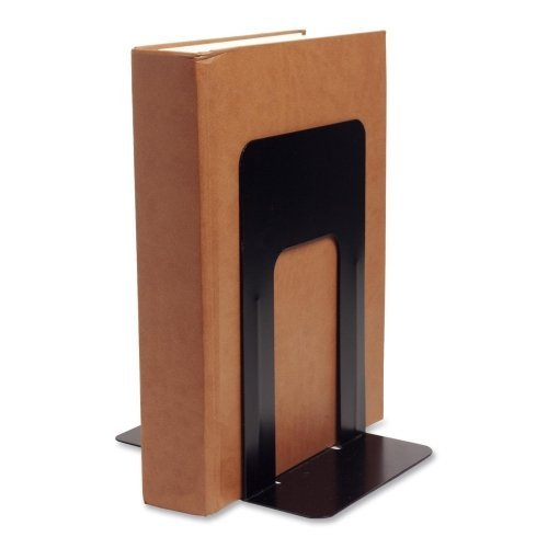 Wholesale CASE of 25 - Bus. Source Heavy-gauge Steel Book Supports-Bookend Supports, Jumbo, 6-1/10''x8-1/2''x9'', Black