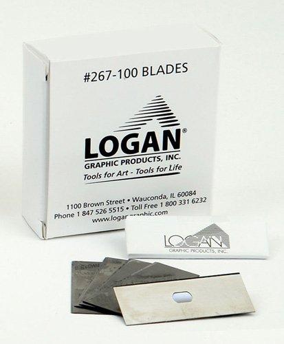 Logan Graphics 267-100 Mat Cutter Blades Box of 100 for use with Logan Use with Logan Platinum Edge and Total Trimmer Series