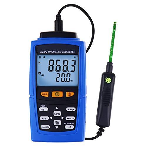 Teslameter Auto//Manual Recording Meter Tester 30000G Professional AC//DC Gaussmeter Magnetic Field Strength Magnetometer 3000mT