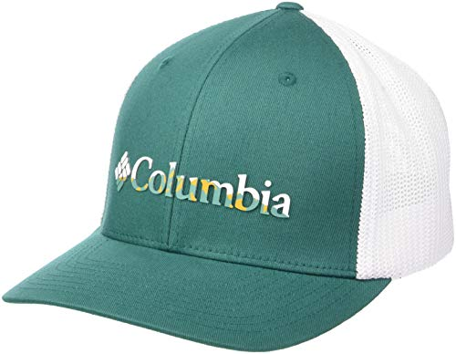(Columbia Men's Mesh Ballcap, Pine Green, Color Weld, Small/Medium)