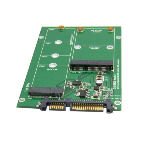 CY 2 in 1 Combo Mini PCI- E 2 Lane M.2 NGFF & mSATA SSD to SATA 3.0 III Adapter Converter PCBA by CHENYANG (Image #4)