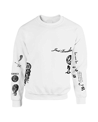 Allntrends Sweatshirt Miley Cyrus Tattoos (Large)