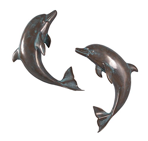 Dolphins Two Gold (Nautical Tropical Imports 36