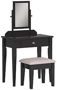 Amazon Com Crown Mark Iris Vanity Table Stool Espresso