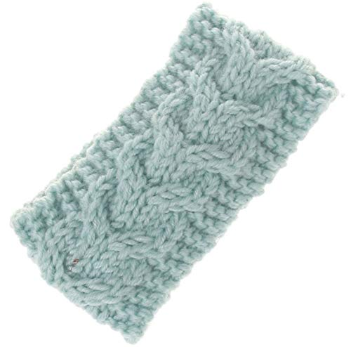 Price comparison product image SUleeBF Baby Cable Knit Headband Head Wrap Ear Warme (Lake Blue)