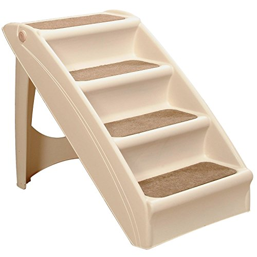 PetSafe Solvit PupSTEP Plus Pet Stairs, Foldable Steps for Dogs and Cats, Best for Small to Medium Pets (Pet Step Ramp)