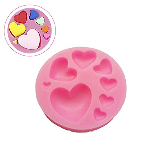 Gold Happy Cake Mold Silicone Heart Shaped Chocolate Mold Sugar Candy Cookie Baking Tray Mould Cooking Tools