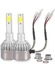 Kit Par de Lâmpada Super Led HB4 Farol 6000k Branco Frio Efeito Xênon 7600 Lm com Cooler Automotivo para Carro