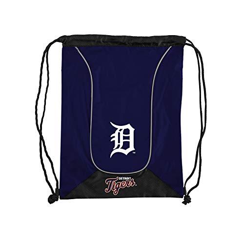 Officially Licensed MLB Detroit Tigers Doubleheader Backsack, 18-Inch, Navy (Nylon Mlb Duffel Bag)