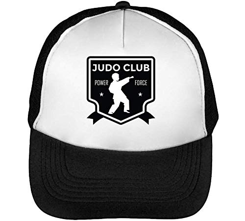 Badge Hombre Club Beisbol Blanco Negro Gorras Sport Snapback Judo gwfqfvH