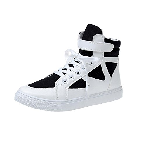 Bovake Casual Sneakers Shoes, Women's Spring Round Toe Shoes Lace-up Thick-soled Casual Shoes - Gym Running Jogging Trainers Fitness Lightweight Shoes Black