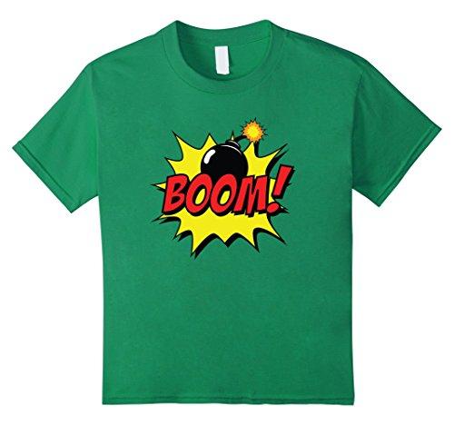 Kids Pow! Zap! Bang! Funny Super Hero Halloween Costume Shirt 4 Kelly (Super Easy Halloween Costumes Last Minute)