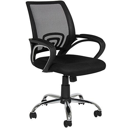 New Ergonomic Mesh Computer Chair Office Desk Comfortable Seat Mid-back Modern Design Metal Base - Prices Duty Brisbane Free
