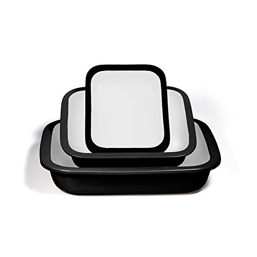 Ovenex 3 Piece Stoneware Bakeware Set (Midnight Black) (Ceramic Cookware Xtrema compare prices)