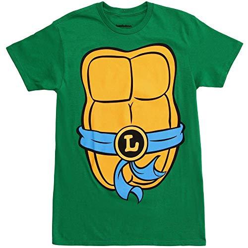 Teenage Mutant Ninja Turtles Adult Costume T-Shirt (Leonardo Blue, Small)