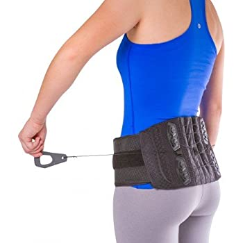 BraceAbility Lower Back & Spine Pain Brace | Adjustable Corset Support for Lumbar Strain, Arthritis, Spinal Stenosis and Herniated Discs (One Size - Fits Men & Women with 28