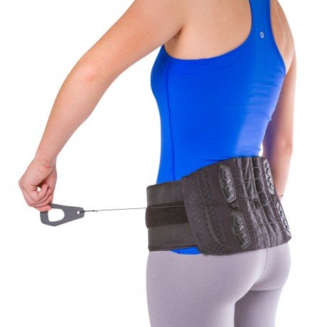 Lumbosacral Brace - BraceAbility Lower Back & Spine Pain Brace | Adjustable Corset Support for Lumbar Strain, Arthritis, Spinal Stenosis and Herniated Discs (One Size - Fits Men & Women with 28