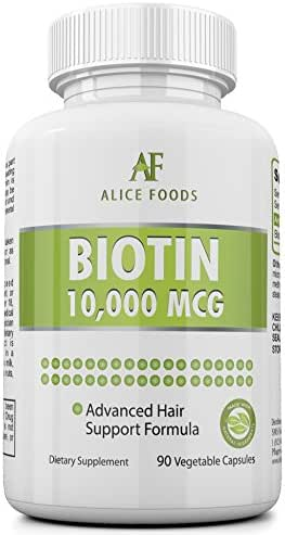 High Potency Biotin Supplement +Nutrition For Skin Guide - Contains 90 Biotin 10000 mcg capsules - Prevents Hair Loss, Helps in Faster Hair Growth and in maintaining Healthy Skin and Nails